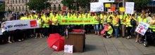 """Streikkundgebung der """"Kaufländer"""" am 18.07.2017 auf dem Erfurter Anger"""